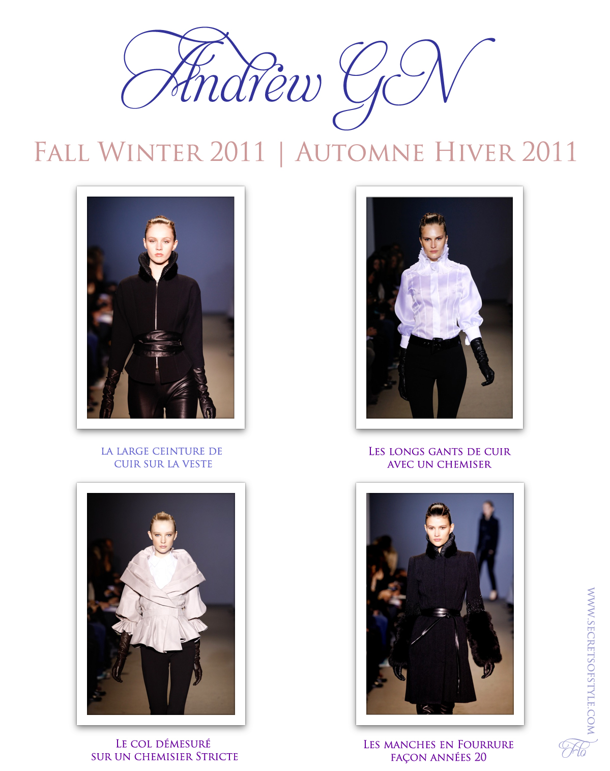 Andrew GN Fall Winter 2011 | Automne Hiver 2011