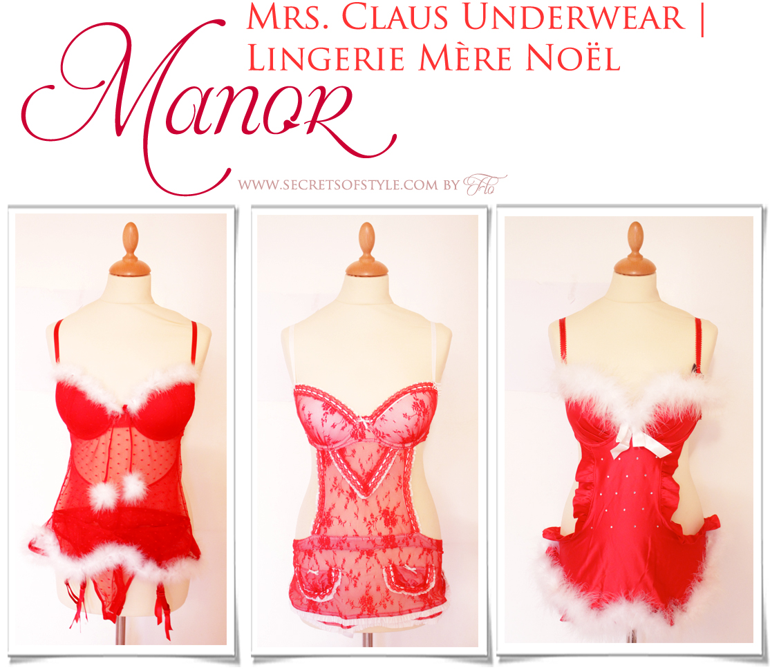 Lingerie Mère Noël Manor | Mrs Claus Underwear