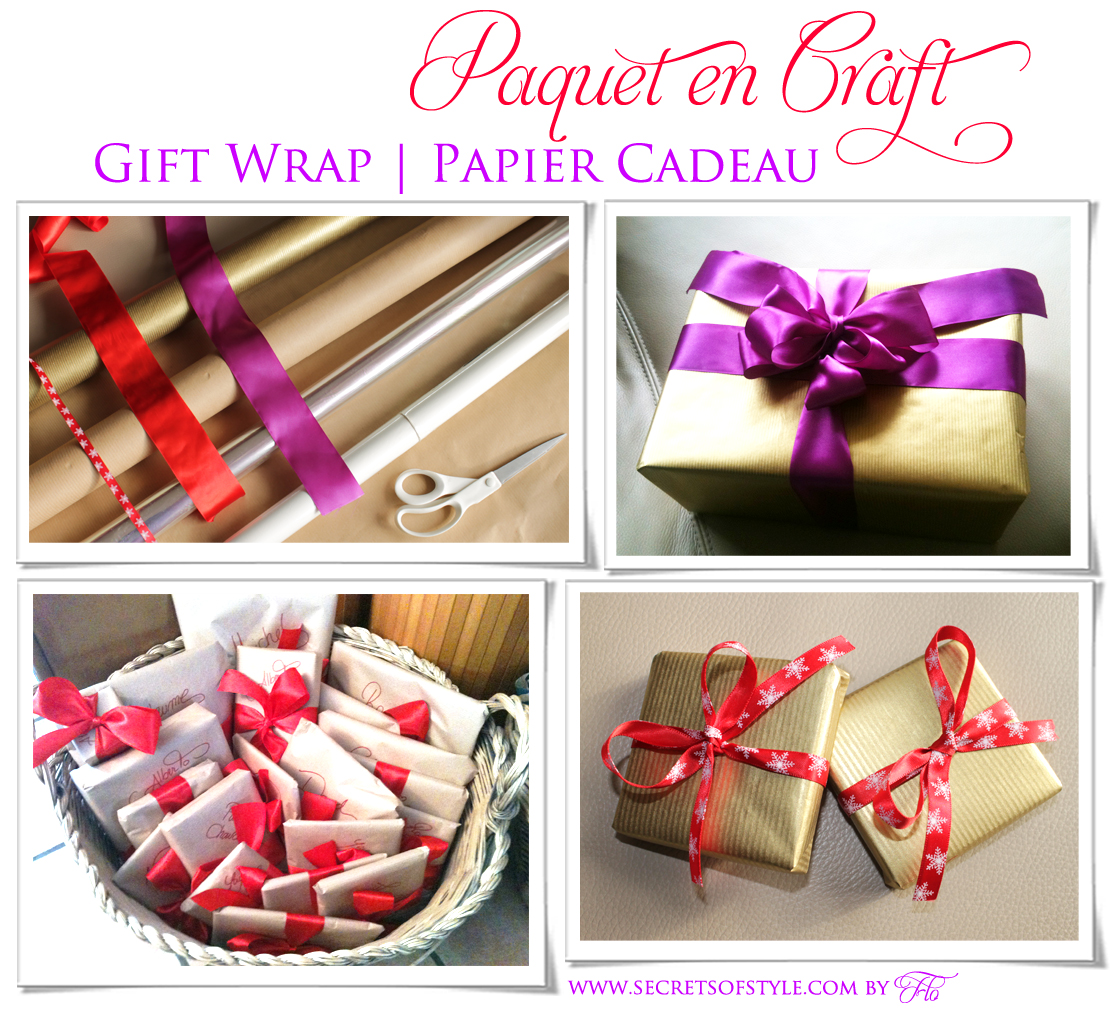 Paquet Cadeau en papier Craft | Gift Wrap