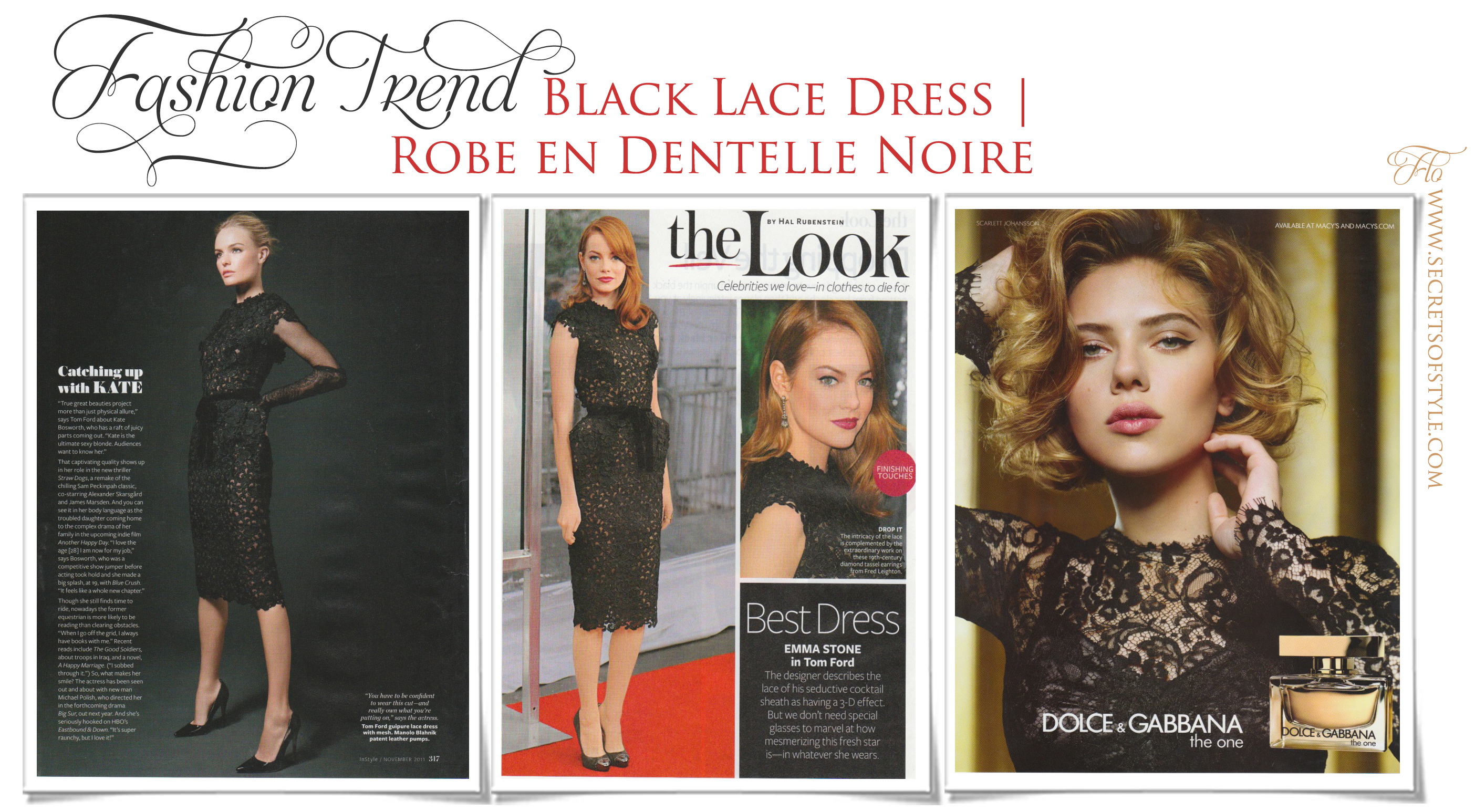 Black Lace Dress | Robe en Dentelle Noire