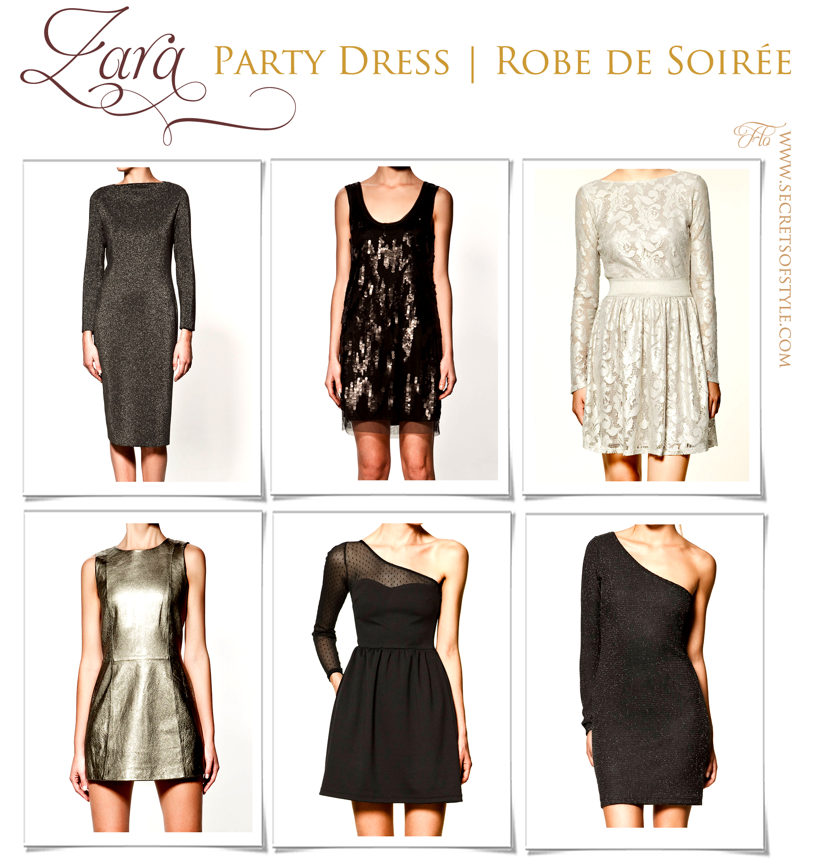 Zara Party Dress Robe De Soiree Secrets Of Style By The Tv Reporter Florence Jacquinot