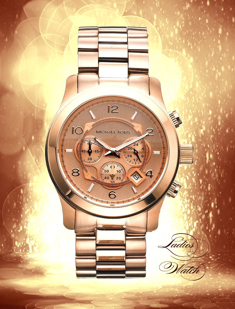 Michael Kors Rose Golden Chrono | Chrono Or Rose