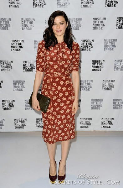 rachel-weisz-and-bottega-veneta-spring-2013-rtw-half-sleeved-print-dress-gallery-WM